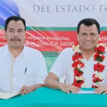 Trabajar de la mano amiga del Diputado Samuel Gurrión nos da confianza; Pdte de San Andrés Teotilálpam