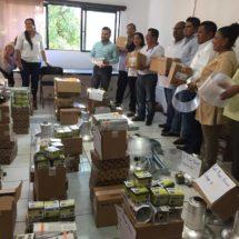 Entrega Bautista Dávila 236 lámparas para 14 colonias y 10 comunidades