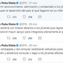 "Las palabras de EPN luego de que Trump quitó apoyo a ""dreamers"""