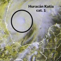 Katia se convierte en huracán categoría 1; emiten alerta en Veracruz