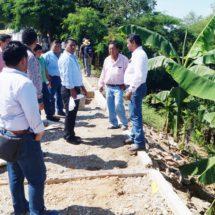 Dávila supervisa trabajo en áreas del Ayuntamiento y obras que se construyen en Tuxtepec