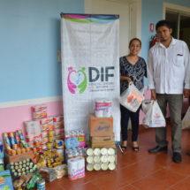 DIF de Tuxtepec recauda víveres  para familias istmeñas afectadas