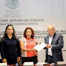 Recibe Congreso de Oaxaca informe de la Cuenta Pública 2016