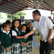 Diputado Toribio López Sánchez ratifica su compromiso con la educación.