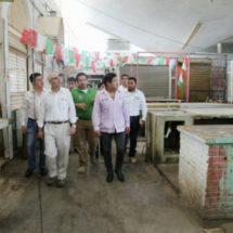 Director de Pemex y de SECTUR evalúan daños en viviendas, edificios SalinaCruz