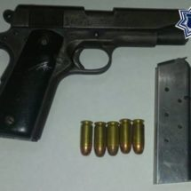 POLICÍA ESTATAL DETIENE A SUJETO POR PORTACIÓN ILEGAL DE ARMA DE FUEGO EN SANTO DOMINGO TEHUANTEPEC