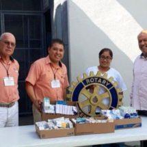 Club rotario Tuxtepec entrega medicamentos al reclusorio
