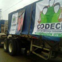 CODECI manda 15 mil blocks de ayuda a sus agremiados en el Istmo