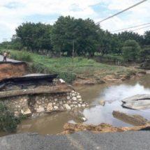 CAO realiza balance de caminos y carreteras afectados por inundaciones y deslaves