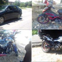 A DISPOSICIÓN DE LA POLICÍA VIAL ESTATAL TRES MOTOCICLETAS Y UN AUTOMÓVIL POR FALTA DE DOCUMENTACIÓN
