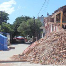 Castigan fuertes vientos a damnificados en el Istmo, Oaxaca