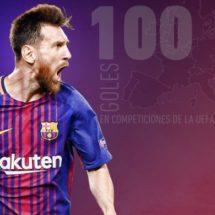 LLEGA EL GOL 100 DE MESSI EN UEFA