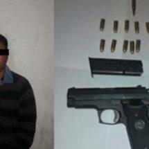 SUJETO ARMADO ES ASEGURADO POR LA POLICÍA ESTATAL EN SAN JUAN MAZATLÁN, MIXE