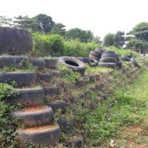 Las llantas que sobraron del muro realizado en la colonia siglo XXI se retirarán