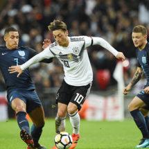 Inglaterra y Alemania empataron en Wembley