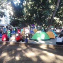 Normalistas se reinstalan en plantón en el zócalo de Oaxaca
