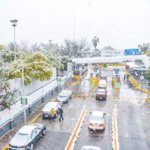 Bellas postales de las nevadas de hoy en Chihuahua y Coahuila
