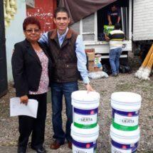 Fernando Huerta sigue apoyando a la población