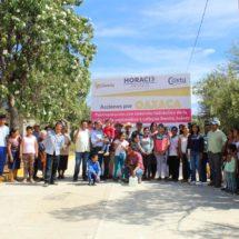 Inaugura Antonio Mendoza obras por 5 millones y medio de pesos en Valles Centrales