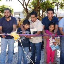 Alejandro López Jarquín construye más espacios deportivos en Xoxocotlán
