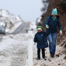 Prevén nevadas de dos a 10 cm este jueves en el norte del país