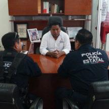 Fernando Bautista Dávila se reunió con Agentes de Vialidad