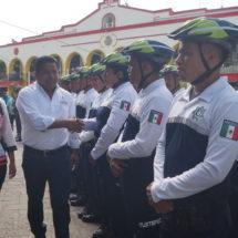 Mayor seguridad para las familias tuxtepecanas con Policías en Bicicleta