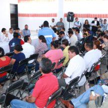 Sesiona en el Istmo la Comisión para la Reconstrucción de Oaxaca, preside el Dip. Local Samuel Gurrión Matías