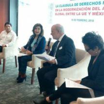 Exigen incluir cláusula sobre derechos humanos en acuerdo entre México y UE