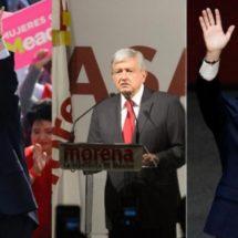 Meade, AMLO y Anaya reciben aval para ir por Presidencia