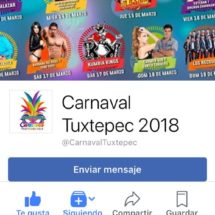 A dar likes a candidatos a Reyes del Carnaval Tuxtepec 2018