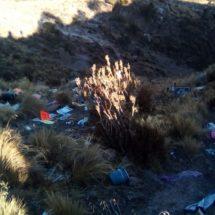 Arrojan desechos en área protegida
