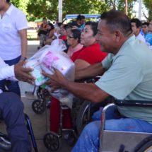 Hacen nueva entrega de apoyos alimentarios… La inclusión, una realidad en DIF Tuxtepec