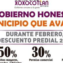 En Xoxocotlán continúa programa de descuentos en pago predial durante febrero