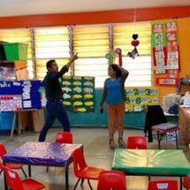 Raúl Cruz recorre planteles y evalúa daños en centros escolares, de Santa Lucía del Camino