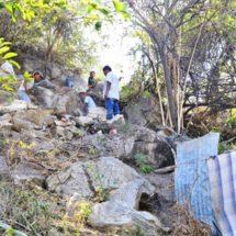 Tras el sismo, boquetes en viviendas de El Faisán, Oaxaca