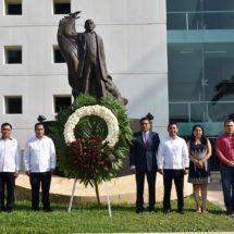 Poder Legislativo conmemora el CCXII aniversario del natalicio de Benito Juárez