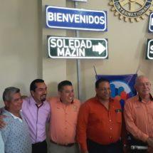 Entrega Club Rotario Tuxtepec señaliticas para colonias