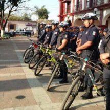 Con la presencia de «Policías en bicicleta», se mejoran las acciones para brindar mayor seguridad en Santa Lucía del Camino