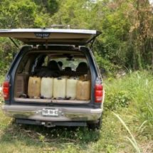 FUERZAS ESTATALES Y EJÉRCITO MEXICANO ASEGURAN 15 BIDONES DE HIDROCARBURO EN ACATLÁN DE PÉREZ FIGUEROA