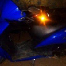 Aseguran motocicleta con números de serie limados y remarcados