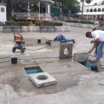 Dan mantenimiento a Fuente Danzante a un mes de ser inaugurada