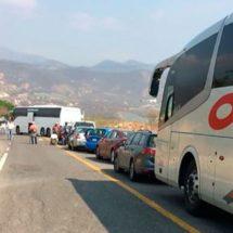Bloquean carretera en el Istmo de Tehuantepec