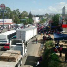 Anuncia la CNTE bloqueos en la ocho regiones de Oaxaca