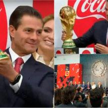 PEÑA RECIBE LA COPA DE LA FIFA!