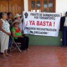 Arranca marcha de damnificados del Istmo, Oaxaca