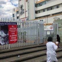 A paro Hospital Civil de Oaxaca, en apoyo al doctor Luis Alberto por caso Edward
