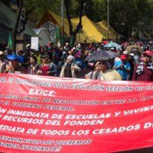Maestros de la CNTE anuncian paro indefinido a nivel nacional