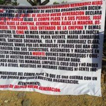 Aparece narcomanta en Matías Romero, presuntamente es del Cartel de Jalisco