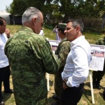 Constatan Gobierno de Oaxaca y SEDENA avances de reconstrucción de viviendas en Jamiltepec